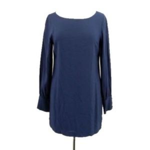Anthropologie Audrey 3+1 Womens Dress Navy Blue M